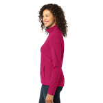 Dark Fuchsia Port Authority Ladies Microfleece Jacket as seen from the sleeveright