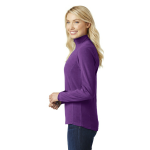 Amethyst Purpl Port Authority Ladies Microfleece 1/2-Zip Pullover as seen from the sleeveright