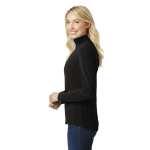 Black Port Authority Ladies Microfleece 1/2-Zip Pullover as seen from the sleeveright