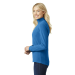 Light Royal Port Authority Ladies Microfleece 1/2-Zip Pullover as seen from the sleeveright