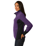 Purp Hthr Blk Port Authority Ladies R-Tek Pro Fleece Full-Zip Jacket as seen from the sleeveright