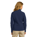 Dress Blue Nvy Port Authority Ladies Core Soft Shell Jacket as seen from the back