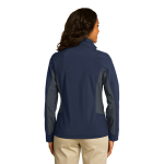Db Nvy Bat Gry Port Authority Ladies Core Colorblock Soft Shell Jacket as seen from the back