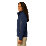 Db Nvy Bat Gry Port Authority Ladies Core Colorblock Soft Shell Jacket as seen from the sleeveright