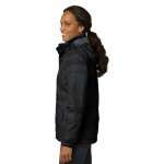 Black Port Authority Ladies Brushstroke Print Insulated Jacket as seen from the sleeveright