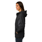 Blk Magnet Gry Port Authority Ladies Cascade Waterproof Jacket as seen from the sleeveright