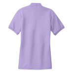 Brt Lavender Port Authority Ladies Silk Touch Polo as seen from the back