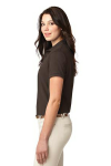 Coffee Bean Port Authority Ladies Silk Touch Polo as seen from the sleeveleft