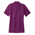 Deep Berry Port Authority Ladies Silk Touch Polo as seen from the back