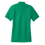 Kelly Green Port Authority Ladies Silk Touch Polo as seen from the back