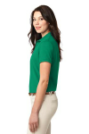 Kelly Green Port Authority Ladies Silk Touch Polo as seen from the sleeveleft