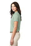 Mint Green Port Authority Ladies Silk Touch Polo as seen from the sleeveleft