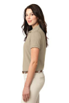 Stone Port Authority Ladies Silk Touch Polo as seen from the sleeveleft