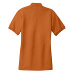 Texas Orange Port Authority Ladies Silk Touch Polo as seen from the back