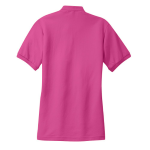 Tropical Pink Port Authority Ladies Silk Touch Polo as seen from the back