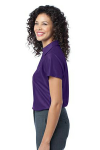 Majestic Purpl Port Authority Ladies Vertical Pique Polo as seen from the sleeveleft