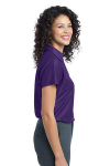 Majestic Purpl Port Authority Ladies Vertical Pique Polo as seen from the sleeveright