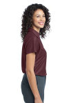 Maroon Port Authority Ladies Vertical Pique Polo as seen from the sleeveright
