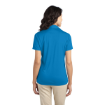 Brilliant Blue Port Authority Ladies Silk Touch Performance Polo as seen from the back