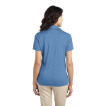 Carolina Blue Port Authority Ladies Silk Touch Performance Polo as seen from the back