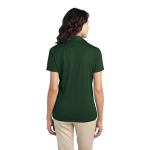 Dark Green Port Authority Ladies Silk Touch Performance Polo as seen from the back