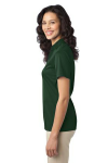 Dark Green Port Authority Ladies Silk Touch Performance Polo as seen from the sleeveleft