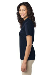 Navy Port Authority Ladies Silk Touch Performance Polo as seen from the sleeveleft