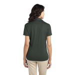 Steel Grey Port Authority Ladies Silk Touch Performance Polo as seen from the back