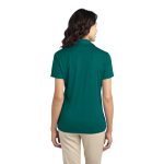 Teal Green Port Authority Ladies Silk Touch Performance Polo as seen from the back