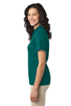 Teal Green Port Authority Ladies Silk Touch Performance Polo as seen from the sleeveleft