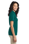 Teal Green Port Authority Ladies Silk Touch Performance Polo as seen from the sleeveright