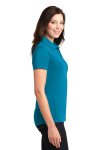 Blue Wake Port Authority Ladies 5-in-1 Performance Pique Polo as seen from the sleeveright