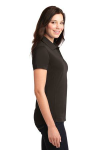 Choc Brown Port Authority Ladies 5-in-1 Performance Pique Polo as seen from the sleeveright