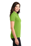Green Oasis Port Authority Ladies 5-in-1 Performance Pique Polo as seen from the sleeveright