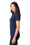 True Navy Port Authority Ladies 5-in-1 Performance Pique Polo as seen from the sleeveleft