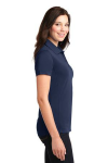 True Navy Port Authority Ladies 5-in-1 Performance Pique Polo as seen from the sleeveright