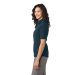 Regatta Blue Port Authority Ladies Ultra Stretch Polo as seen from the sleeveleft