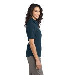 Regatta Blue Port Authority Ladies Ultra Stretch Polo as seen from the sleeveright