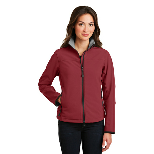 Caldera Rd Chr Port Authority Ladies Glacier Soft Shell Jacket as seen from the front