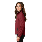 Caldera Rd Chr Port Authority Ladies Glacier Soft Shell Jacket as seen from the sleeveleft