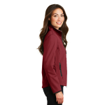 Caldera Rd Chr Port Authority Ladies Glacier Soft Shell Jacket as seen from the sleeveright