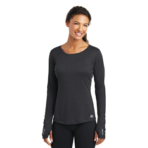 OGIO® ENDURANCE Ladies Long Sleeve Pulse Crew.