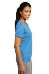 Carolina Blue Sport-Tek Ladies Competitor Tee as seen from the sleeveright