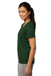 Forest Green Sport-Tek Ladies Competitor Tee as seen from the sleeveleft