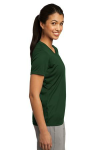 Forest Green Sport-Tek Ladies Competitor Tee as seen from the sleeveright