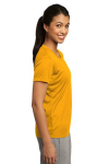 Gold Sport-Tek Ladies Competitor Tee as seen from the sleeveright