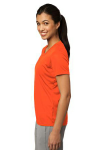 Neon Orange Sport-Tek Ladies Competitor Tee as seen from the sleeveleft