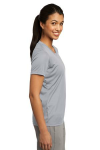 Silver Sport-Tek Ladies Competitor Tee as seen from the sleeveright