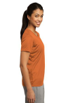 Texas Orange Sport-Tek Ladies Competitor Tee as seen from the sleeveright