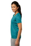 Tropic Blue Sport-Tek Ladies Competitor Tee as seen from the sleeveleft